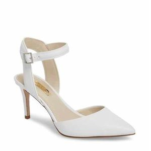 Louise et Cie White Ankle Strap Heels
